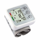 Pressurization Automatic Arm Blood Pressure Monitor Health Care Monitors Digital Tonometer Upper Portable Wrist Cuff Meters Sphygmomanometer for Measuring Pulse Rate Diastolic and Systolic Meter