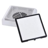 Плоский пылесборник для маникюра 40 Вт