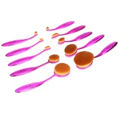 10pc Abody Oval Soft Makeup Brush Set Toothbrush Foundation Cosmetic Cream Powder Blush Kits Professional Makeup Tool Cosmetic Brush Purple
