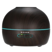 300ml Cool Mist Humidifier Ultrasonic Essential Oil Diffuser Wood Grain Aroma Diffuser w/ Adjustable Mist Mode Waterless Auto Shut-off and 7 Colors LED Lights Changing for Home Office