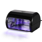 9W LED Nail Lamp Fingernail Toenail Gel Curing Nail Dryer Professional Nail Gel Machine for Nail Salon EU Plug Beige