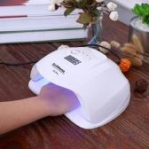 54W UV LEDネイルランププロフェッショナルな日光釘ゲージドライヤーマシン