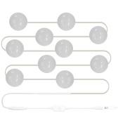Kit de luzes de espelho de vaidade de LED com lâmpadas reguláveis Tira de fixação de iluminação para mesa de toucador de maquiagem definido no camarim (UE plug)