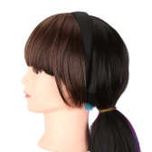 Мода девочек волосы застежка клип на фронт аккуратные Bang бахрома волос расширение