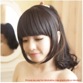 Fashion Girls Hair Clasp Clip on Front Neat Bang Fringe Hair Extension