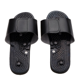 Black Rubber Electrode Slippers Suit for Tens Acupuncture Therapy Massager Machine JR309 Physiotherapy Body Foot Massage Relaxing
