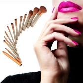 12 PCes/jogo nova maquiagem pincéis Facial maquiagem escova Eyeshadow escova lábio pincel delineador escova profissional Kit escovas ferramentas beleza conjunto com Metal caixa cosmética