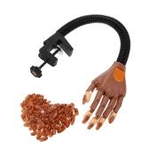 調整可能な爪のアートモデル手の偽の爪は実践ハンドクランプDIYホルダー100詰め替えの爪のヒント