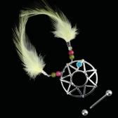 Мечта, племенных Sun сосков кольца ювелирные украшения для пирснига желтые перья