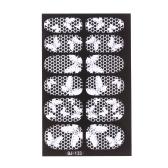 12 pcs/パック ファッション デザイン 3 D ホワイト レース爪アート ステッカー透明花ネイル ステッカー DIY DecorationsTools