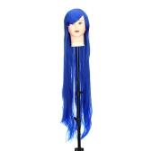 Puro azul 1m longa peruca Staight personagem de Anime Cosplay palco papel testa Fringe
