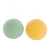 2pcs/pack Facial Cleansing Konjac Sponge Face Washing Puff Natural Exfoliating Deep Pore Cleaning