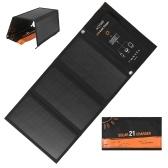 Pannello caricabatterie solare pieghevole da 21W