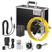 Canalisation d'égout de drain d'appareil-photo d'inspection de tuyau de pouce 20M / 30 / 40M de 9 pouces