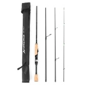 Portable Travel Spinning Fishing Rod 6.8FT Lightweight Carbon Fiber 4 Pieces Fishing Pole