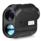 Telémetro láser compacto de 7X25 mm para exteriores, telémetro de 600 m, telémetro de golf, caza, telescopio monocular, medidor de distancia, probador de velocidad, telémetro monocular digital, herramienta de medición