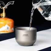 Lixada 180ml Doppelwandiger Titan Teetasse Wasserbecher
