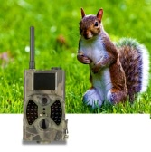 12MP Trail Camera Portable GPRS/MMS/SMS Game Cameras Wildlife Scouting Camera Hunting Camera Video Recorder HD Digital Infrared 940NM IR LED HC300M Security Camera