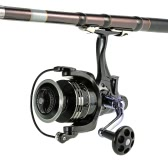 11 + 1BB Rodamientos de bolas 4.7: 1 Bobina de pesca Izquierda / derecha Intercambiable Ultra suave Rodillo de pesca giratorio