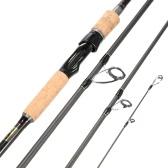 4 sezioni in fibra di carbonio di Baitcasting portatile pesca Rod di filatura medio Canna da pesca Pole per acqua salata e acqua dolce