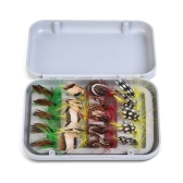 Fly Fishing Flies Kit 20 / 100pcs surtido de señuelos de pesca con mosca ganchos con Fly Box