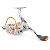 10 + 1 BB Carrete de pesca a la izquierda / derecha Mango plegable intercambiable Pesca Carrete de hilado Ultra Light Smooth Spinning Reel
