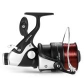 Spinning Baitfeeder Mulinello anteriore e posteriore a doppio trascinamento con lenza per mulinello da pesca in mare
