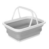 Складная походная корзина Складная стиральная трубка Многофункциональная складная корзина для хранения для уличного домашнего автомобиля