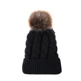 Mulheres quentes de inverno e crianças de malha Crochet Wool Hat