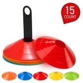 25pcs Agility Disc Cone Set