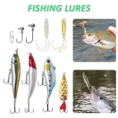 Kit de iscas de pesca 18pcs