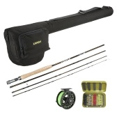 Lixada Lightweight Portable Fishing Rod Reel Combo Kit Set