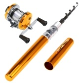 Telescopic Pocket Pen Fishing Rod PoleFishing Reel Combos Set
