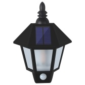 Outdoor Water Resistant Wall Lantern Lightweight Solar Lamp Wirless Motion Sensor Lights LED for Garden Courtyard Porch Basement