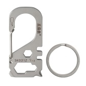 Multifunctional Carabiner Keychain Stainless Steel Survival Gear Pocket Tool