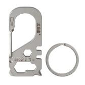 Multifunktionales Carabiner Keychain Edelstahl Survival Gear Pocket Tool