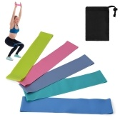 5 PCS Resistance Loop Bands con bolsa de almacenamiento Elastic Booty Band Set para Yoga Fitness Home Gym Training