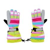 2шт Зимние Ветрозащитные Тепловые Перчатки для Катания на Лыжах Коньках