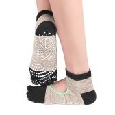 Non Slip Full Toe Yoga Socks with Grips for Women Pilates Barre Dance Fitness