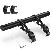 Suporte de liga de extensor de guiador de bicicleta 25 mm para extensão de guiador de 18-35 mm em liga de alumínio / fibra de carbono