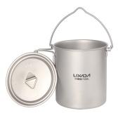 Lixada 750 мл сверхлегкая титановая кружка для воды с крышкой и складной ручкой на открытом воздухе, кемпинг, кулинария, пикник