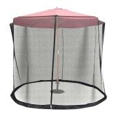 Tela de guarda-chuva de 8,2-9,8 pés malha guarda-chuva ajustável para jardim de pátio externo