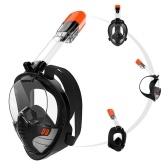 Подводное плавание Ma-sk Подводное плавание с маской для дыхания Ma-sk Автономный подводный дыхательный аппарат с полным лицом Полный сухой силиконовый костюм для дайвинга Анти-туман Широкий обзор Подводный автономный подводный дыхательный аппарат