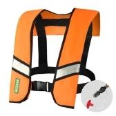 Надувной спасательный жилет с ручным / автоматическим управлением, спасательный жилет для взрослых, водные виды спорта, плавание, рыбалка, выживание, куртка