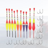 30pcs Multi-purpose Light Floats Fishing Floats Floaters Hooks Set Antenna Slip Buoyant Bite Indicators Float Buoy Fishing Angling Equipment