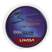 Lixada 100m Fishing Line Thread Clear White Thin Fishing Line Smooth Casting for Freshwater and Saltwater