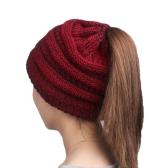 Cappello caldo di lana Fashion Knitting Winter Beanie Cap Cappelli di colore Pure Cozy Cozy per le donne Copricapo rigonfi