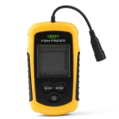 Afortunado 0.7-100m Portable Sonar Sensor LCD Fish Finder alarma con cable Fishfinder Transducer Beam Echo Sounder con pantalla más profunda Fishing-Finder