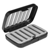 Caja de la mosca de las moscas de la caja de la mosca del bolsillo de la espuma fácil del apretón de dos capas de la capa cuatro