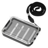 Clear Fly Box Easy Grip Schaum Portable Pocket Fishing Flies Box Case mit Umhängeband